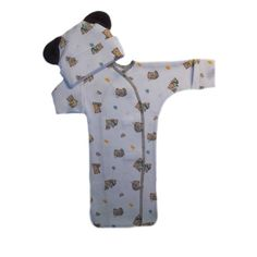 Baby Boys' Teddy Bear and Toys Bunting Gown with Mitten Cuffs and Hat with Ears. 4 Preemie and Newborn Sizes to 3 Months. Baby Boy Gowns, Baby Hats, Micro Preemie, Red Booties, Baby Bunting, Popular Toys, Cute Teddy Bears, Sleep Sacks, Home Outfit