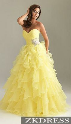 I just got something for yellow dresses and prom dresses. It's a beautiful dress and I don't think that any girl wouldn't just love it.