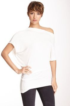 Boatneck Asymmetrical Shirt