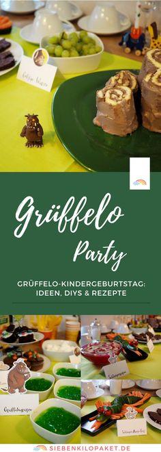 Mit dem Grüffelo Geburtstag feiern: Ideen, DIYs und Rezepte für die perfekte Grüffelo Party #kindergeburtstag #geburtstag #party #grüffelo #mottoparty