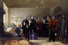 Queen Victoria's First Visit to her Wounded Soldiers by Jerry Barrett 1856