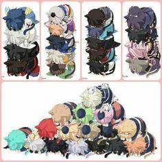 画像 Touken Ranbu, Manga Art, Vocaloid, Sword, Chibi, Kittens, Geek Stuff, Kawaii, Animation
