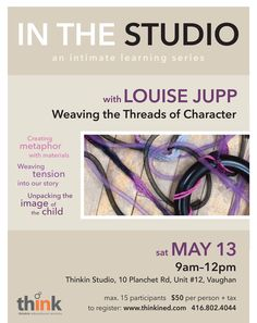 MAY 2017 – IN THE STUDIO – Professional learning workshop with Louise Jupp – looking closely at language, literacy and learning stories – for educators in Ontario. #looseparts #inquirylearning #documentation #handson