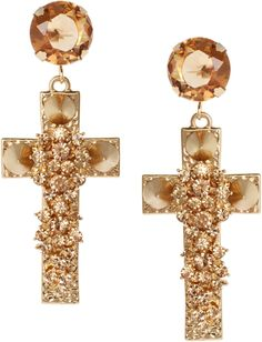 Jewel Cross Earrings...these are too pretty!!!
