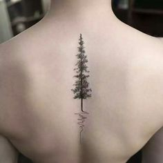 Tree tatoo on the spine