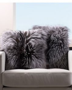 Shop FurSource for the best selection of Fur Pillows. Buy the Full Pelt Grey Fox Fur Pillow by FRR with fast same day shipping. Fur Bedding, Luxury Bedding, Fur Decor, Faux Fur Rug, Grey Fox, Fur Accessories, Fur Pillow, Fur Blanket, Fur Throw