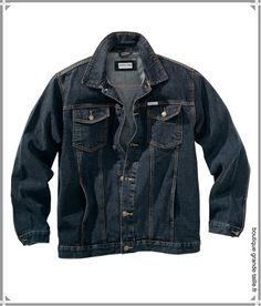 Veste en jean homme rond, très large carrure article indémodable à porter sur un sweat ou une chemise look assuré.