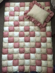 Baby Puff Quilt I made from Gutermann Fabric <3