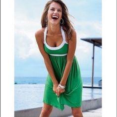 Victoria's Secret Sundress Beautiful green color! Size XS. Has a built in bra. Only worn once. Victoria's Secret Dresses Midi