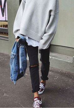 Look by @susanaworld with #sneakers #zara #streetstyle #oversize #jackets #convers.