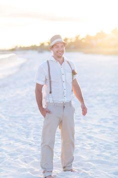 Beachy groom in Old Navy.