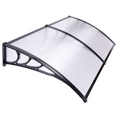x Window Awning Door Coffee Sun Shade Canopy Hollow Polycarbonate Sheet Cover UV Rain Snow for Outdoor Patio Furniture Protect Doorway Window Canopy, Awning Canopy, Canopy Outdoor, Awning Patio, Metal Awning, Patio Canopy, Pergola Patio, Pergola Plans, Pergola Kits