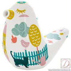 Zuckerstreuer RITZENHOFF Design 2013,Stockebrand 10cmGB - So süß wie praktisch. Der niedliche Zuckervogel aus Porzellan versüßt ruck, zuck jede Küche.