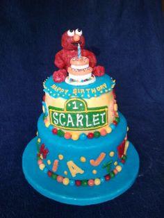 1st birthday Sesame Street themed cake