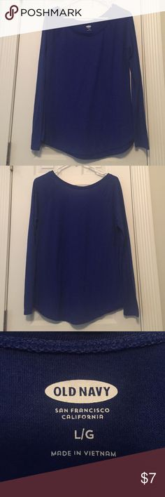 Old Navy Cobalt Blue Boatneck Long Sleeve Tee Old Navy Cobalt Blue Boatneck Long Sleeve Tee. Super comfy and cute! True to size. Gently worn. Old Navy Tops Tees - Long Sleeve