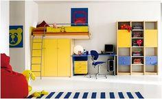 Keltainen talo rannalla: Lastenhuoneita
