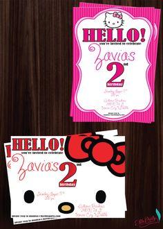 Hello Kitty Party Invites