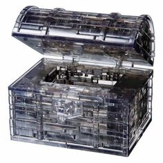 3D Crystal Puzzle, Black Treasure Chest