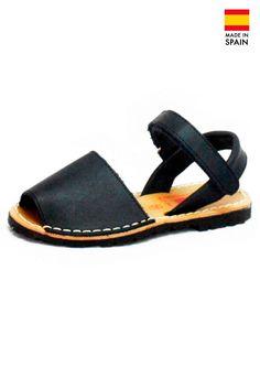 Sandale Avarca Menorquinas pentru copii din piele naturala, Clasic, negru | Summer Sandals | Colecții