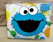 Sesame Street Cookie Monster Duct Tape Wallet <3 I love cookie monster!! my fave!