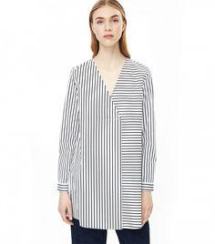 COS Long Oversized Stripe Top