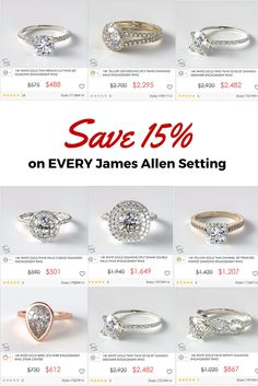 James Allen's Valentine's Sale is here! Save 15% on all jewelry and every engagement ring setting. Shop now (Ends Feb 1st).