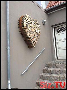 Herz aus Holz in Metallring Herz aus Holz in Metal #aus #decoration_maison_recup #Herz #Holz #Metallring