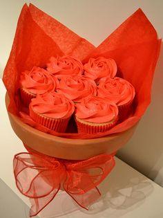 Valentine's Cupcake Bouquet