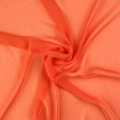 Summer Crinkle Chiffon 18-5 Coral 145cm