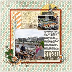 Start Your Scrapbook Layout with a Block Foundation | Stefanie Semple |Get It Scrapped
