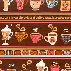 Perk Me Up - Café Stripe - Chocolate