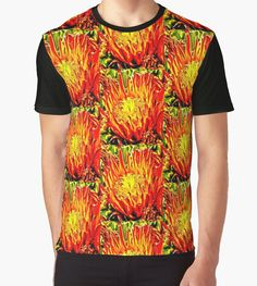 Men's Southwest Cactus Flower Tee shirt by Judi Saunders.