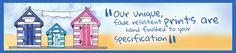 Social media consultancy for Beach Hut Buddies, personalised watercolours (via www.mediaeden.co.uk)