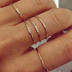 Jennie Kwon Designs / Three Bezel Ring