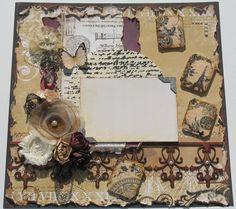 Premade Scrapbook Page Vintage