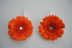 Orange Gerba Earrings Perfect for any Mehndi