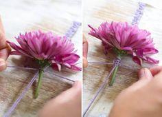 DIY Fresh Flower Macrame Bracelet - The Sweetest Occasion | The Sweetest Occasion