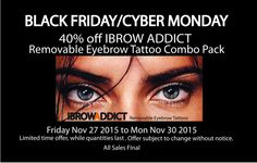 Black Friday 40% Off IBROW ADDICT Removable Eyebrow Combo Pack