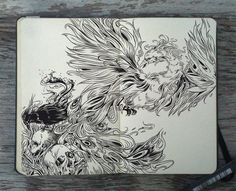 #111 Flight of the Phoenix by 365-DaysOfDoodles.deviantart.com on @DeviantArt