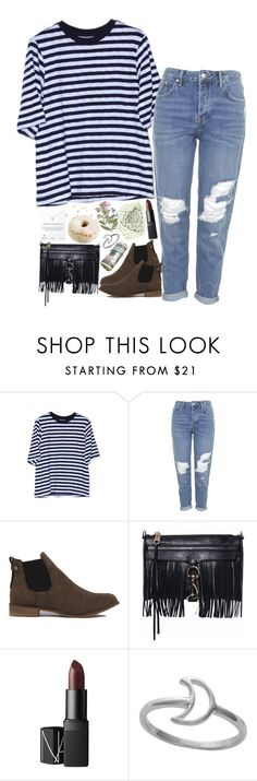 """""""Come on in this house, it's gonna rain."""" by sisistyle ❤ liked on Polyvore featuring Topshop, Akira Black Label, Bastien, Rebecca Minkoff, NARS Cosmetics, Dogeared, women's clothing, women's fashion, women and female"""