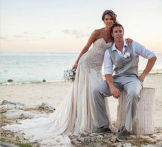 Gorgeous beach wedding dress