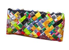 Recycled Gum Wrapper Costmetic Case or Small Clutch >> Additional details found at the image link  : Christmas Luggage and Travel Gear