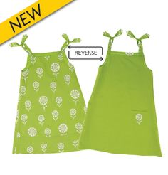 """This """"Ivy & Alex"""" dress is so versatile! It can be worn as a dress, a tunic (with tights) or as a top. It's also reversible – one side features a fun heart & flower print and the other a practical solid color with pocket. Plus, each dress includes a matching, reversible headband. Your gift of the """"Granny Smith Green"""" dress will help provide nutritious food to communities in need. Get it here: https://catalogue.worldvision.ca/collections/hand-crafted-gifts/products/granny-smith-green-dress"""