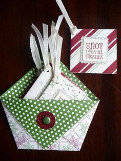 SU Christmas gift tags