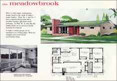 midcentury ranch style houses | Mid Century Ranch Plan - The Meadowbrook - Liberty Ready Cut Home ...