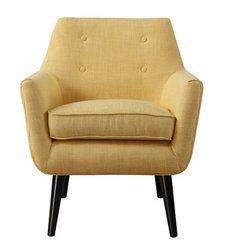 Tov Furniture Clyde Mustard Yellow Linen Chair
