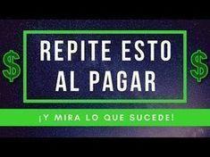REPITE ESTO AL PAGAR ¡Y MIRA LO QUE SUCEDE! - YouTube Word 2, White Magic, Zodiac Mind, Spanish Quotes, Reiki, Feng Shui, Law Of Attraction, Karma, How To Make Money