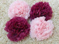 tissue flower for DIY pelamin