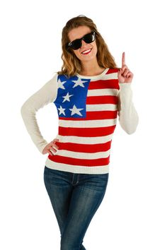 The Lotus Petal American Flag Sweater | Shinesty