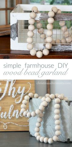 A very easy and budget friendly project to add affordable farmhouse style to your home decor. Diy Home Decor Easy, Wood Home Decor, Affordable Home Decor, Handmade Home Decor, Unique Home Decor, Vintage Home Decor, Vintage Room, Creative Decor, Wall Decor